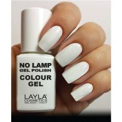 SMALTO NO LAMP GEL POLISH LAYLA/1 STRAIGHT WHITE