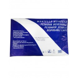 MANTELLINA RICICLABILE MONOUSO BIANCA PE 85x110 30pz - AXIMA