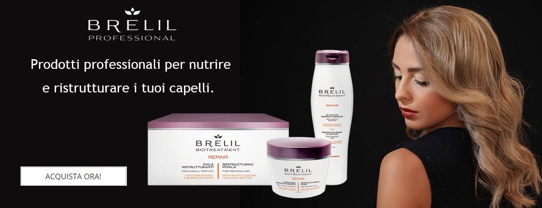 BRELIL REPAIRE: prodotti professionali per nutrire e ristrutturare i tuoi capelli